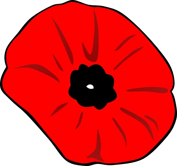 600x563 Poppy Remembrance Day Clip Art Free Vector In Open Office Drawing