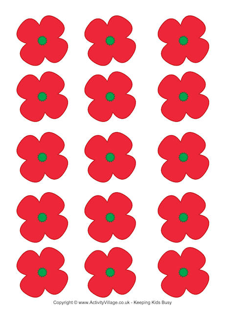 460x650 Remembrance Day Printables