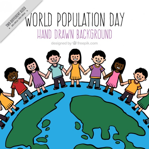 626x626 Hand Drawn Population In The World Background Vector Free Download