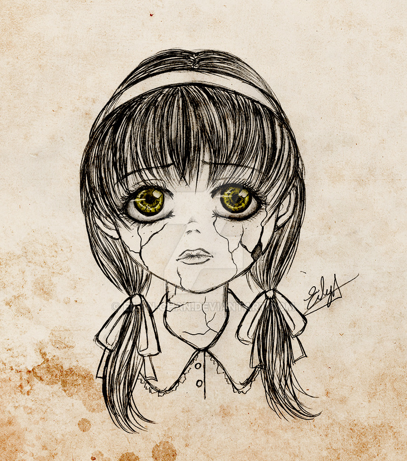 Porcelain Doll Drawing at GetDrawings | Free download