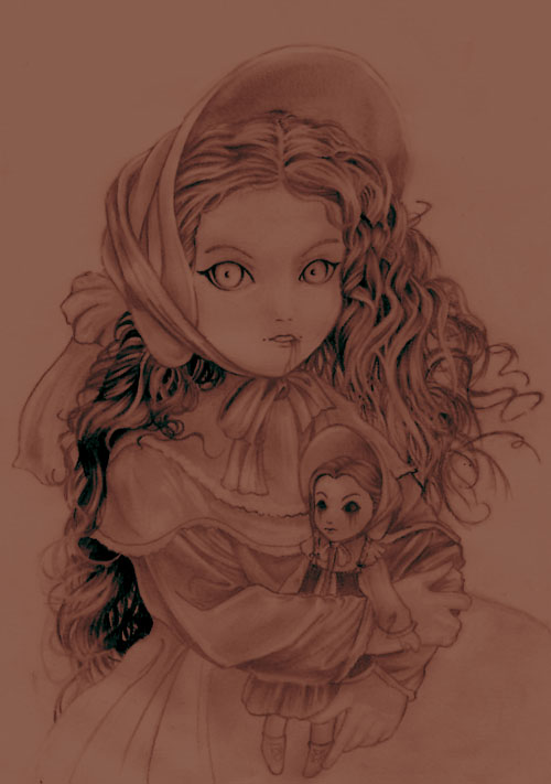 500x711 Claudia And Porcelain Doll By Loreen