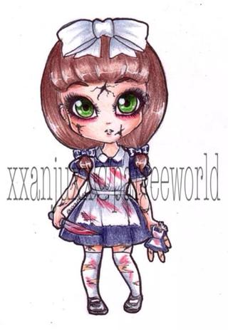 320x463 Paigeeworld Oc Aurora As A Creepy Porcelain Doll. Outfit Inspired