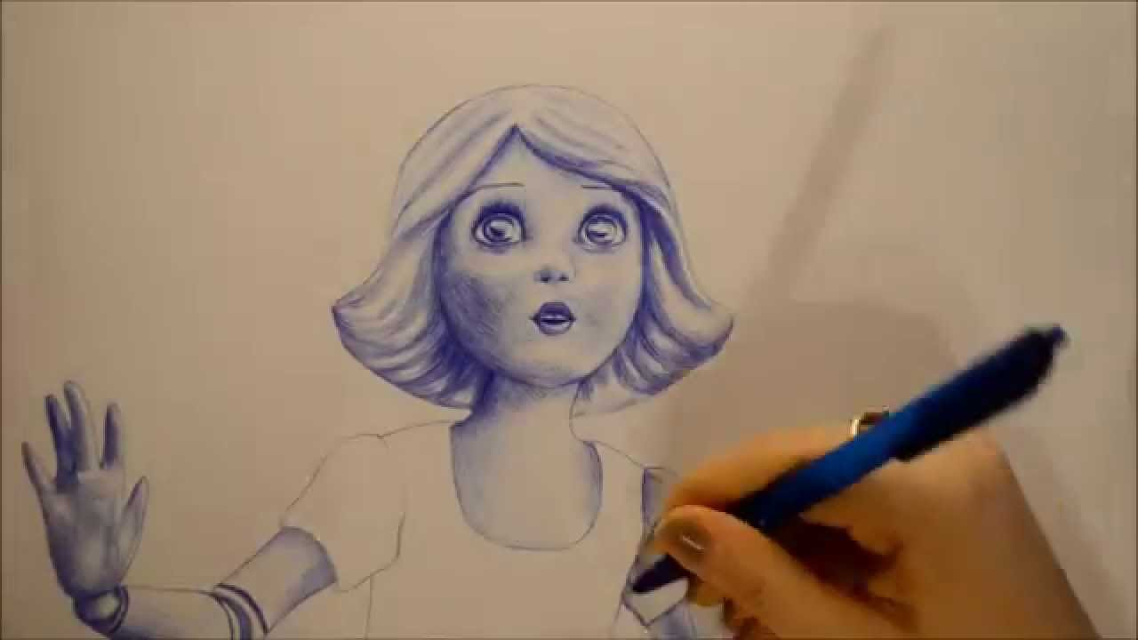 1280x720 Porcelain Doll From Oz The Great And Powerful Drawing