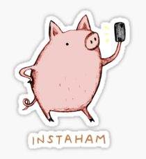 210x230 Pork Drawing Stickers Redbubble
