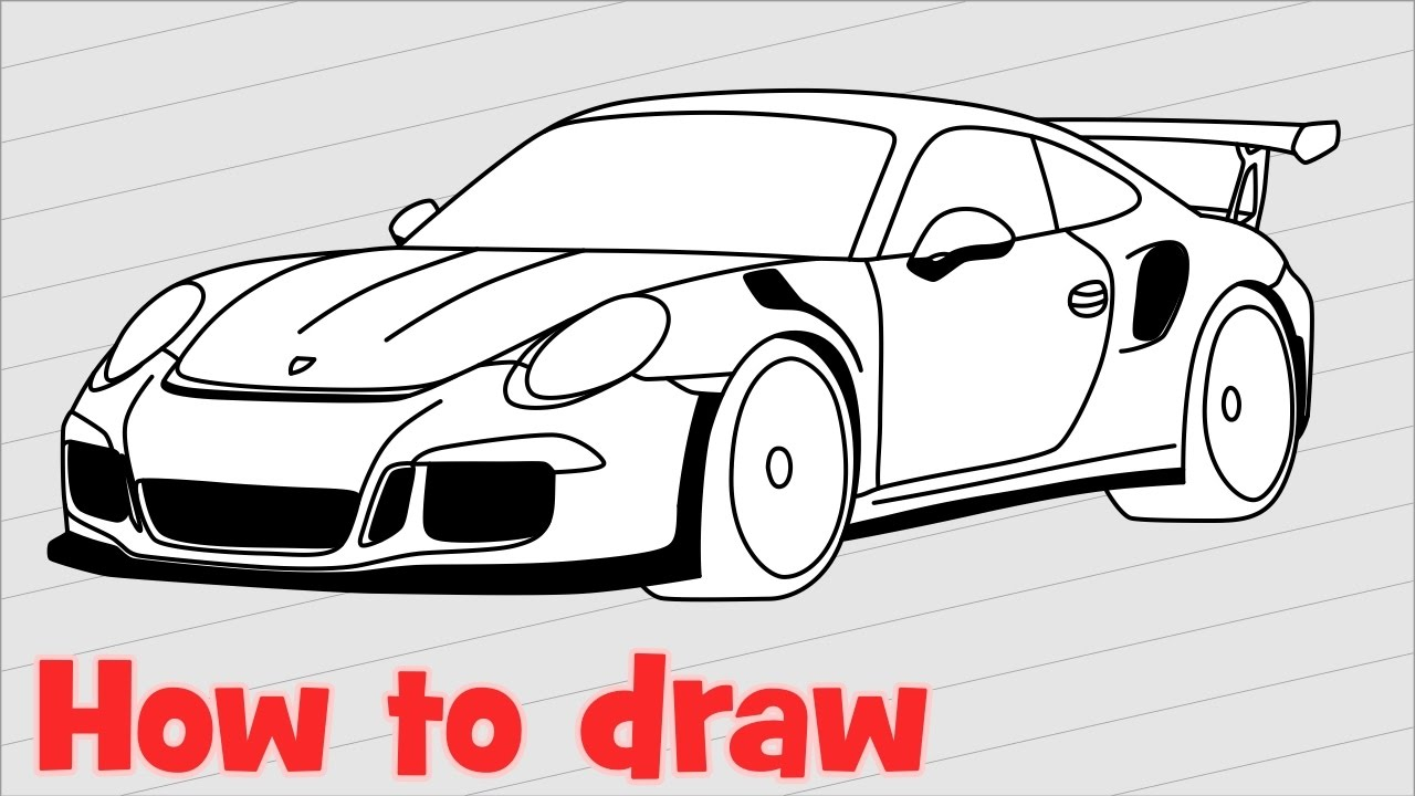 Porsche 911 Drawing at GetDrawings.com | Free for personal use ...