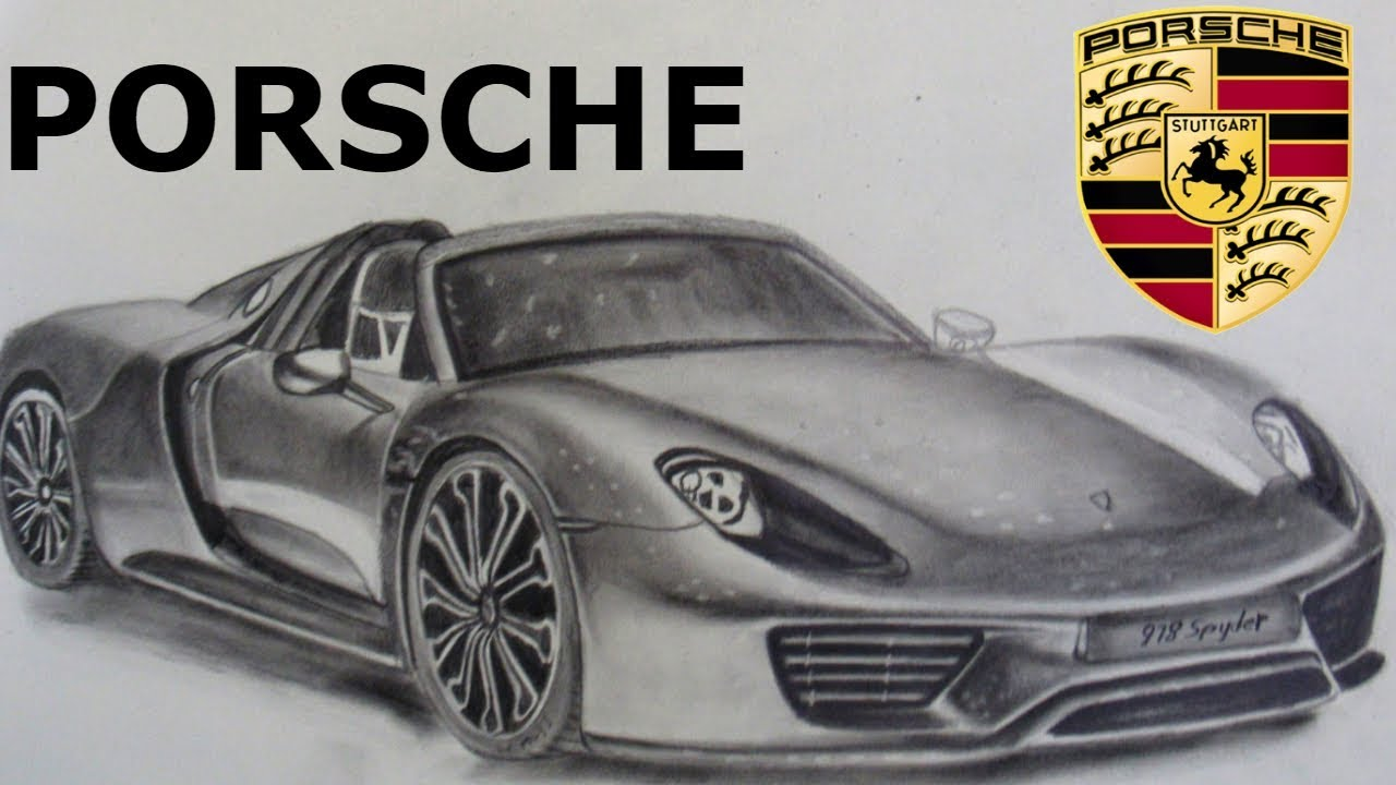 Porsche 918 Spyder Drawing At Free For Personal Engine Diagram 1280x720 Dibujando El
