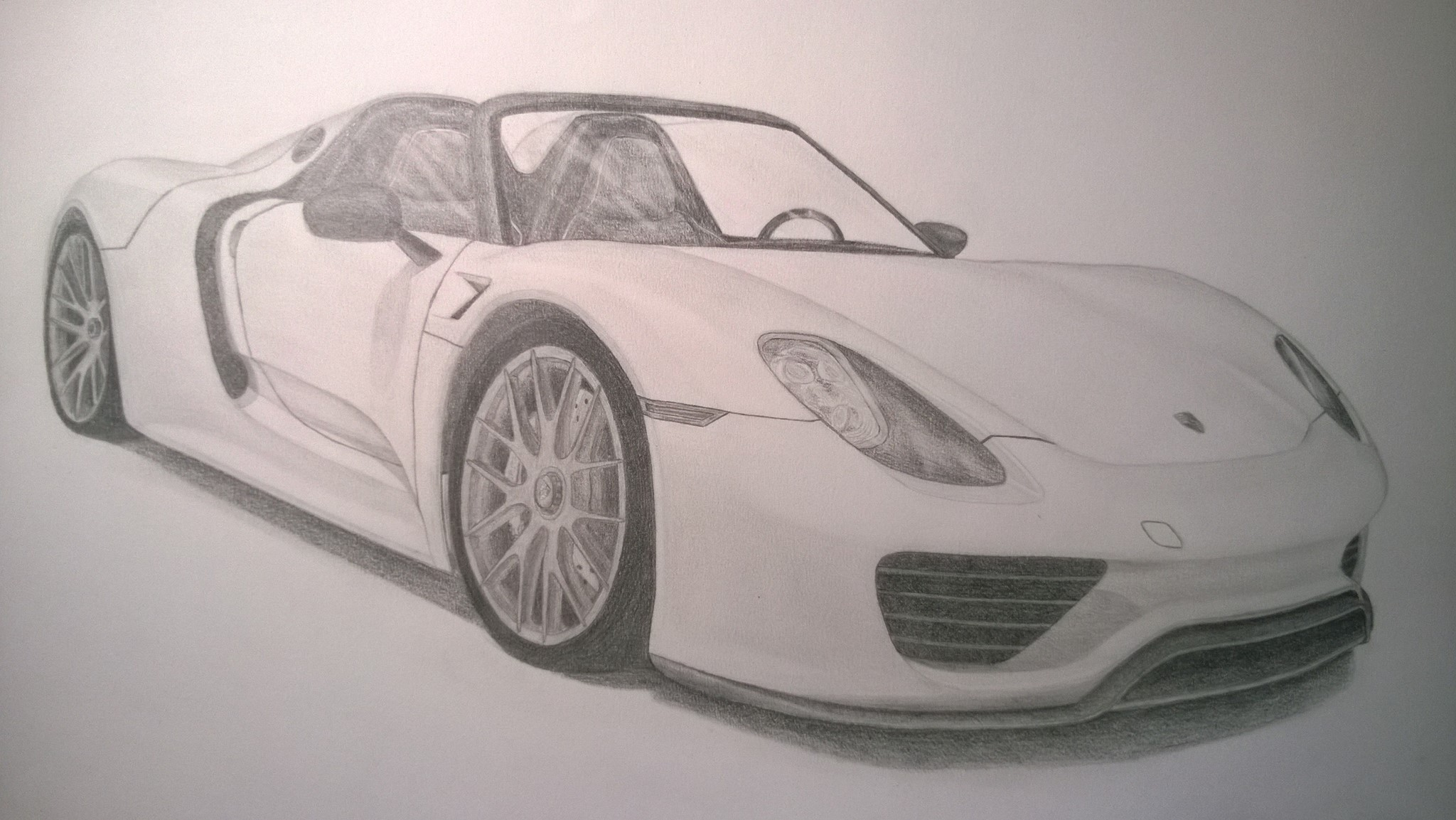 Porsche 918 Spyder Drawing At Free For Personal Engine Diagram 2048x1153 Finally Finished My Of The