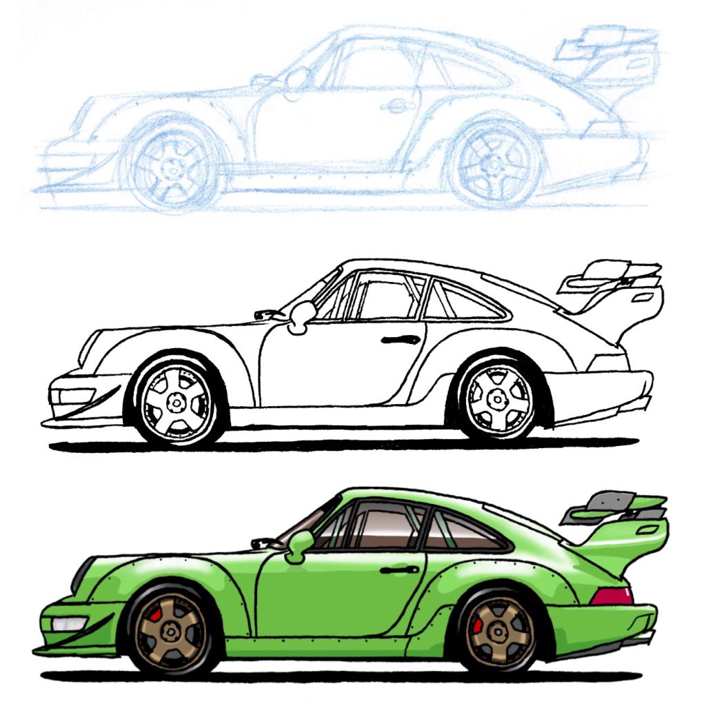 Porsche Drawing At Free For Personal Use 964 Fuse Box 1024x1024 My Step By Of A Rwb Autos