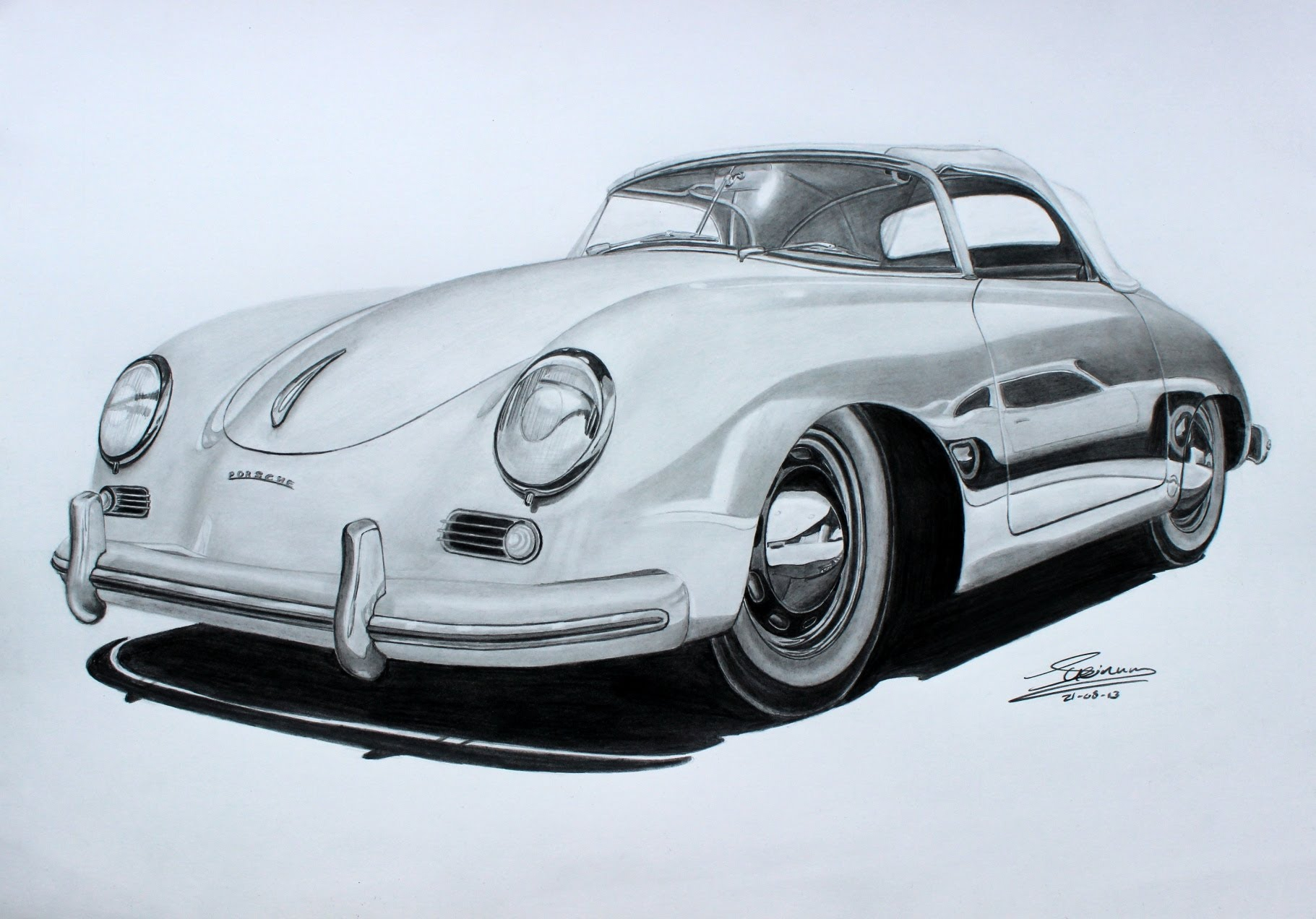 Porsche Drawing At Free For Personal Use 356 Fuse Box 1821x1272 Speedster Pencil