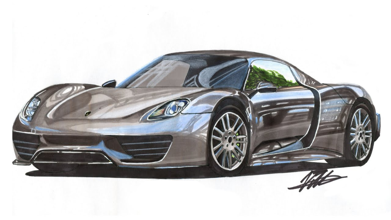 Porsche Drawing at GetDrawings.com   Free for personal use Porsche ...