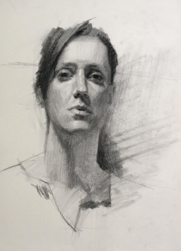 579x800 Portrait Drawing Technique With Charcoal, Louis Smith
