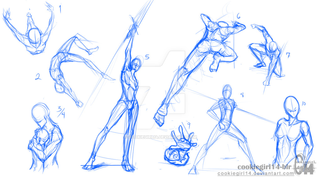 1024x576 Tutorial Character Poses Fight On Drawing Tutorial