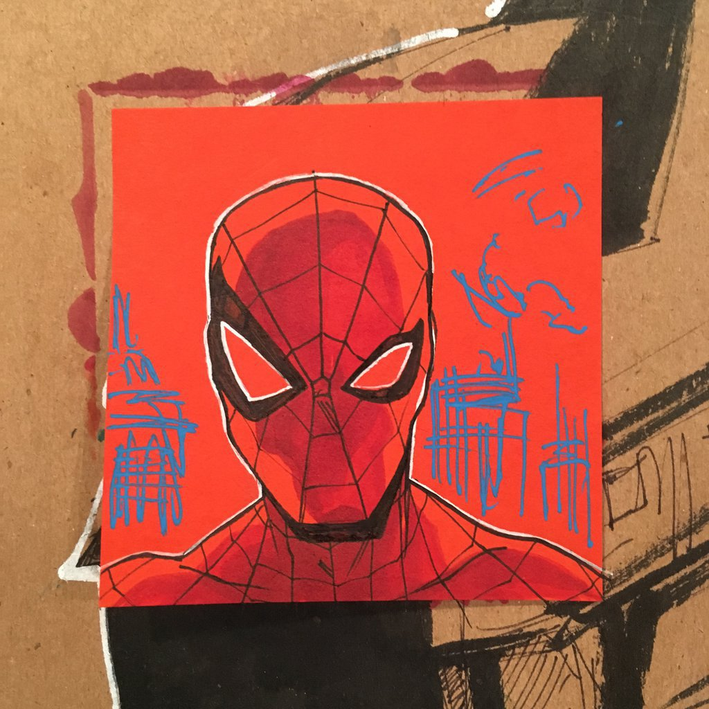 1024x1024 Spider Man Post It Note Drawing By Ethancastillo