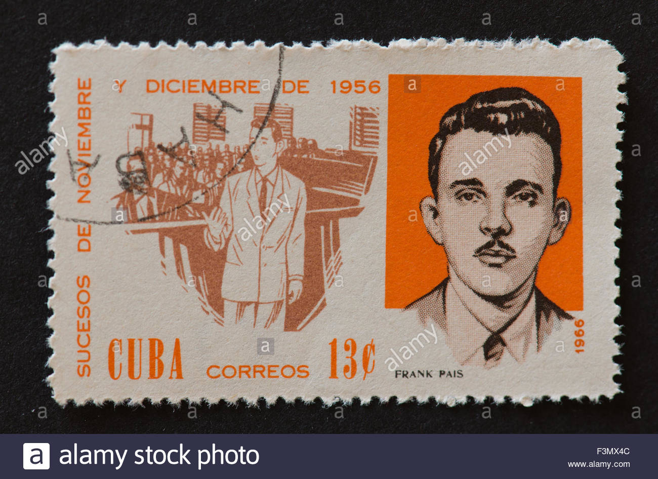 1300x946 Cuban Postage Stamp Portraits Of Cuban Revolutionary Frank Pais