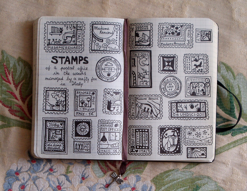 1024x789 Faux Postage Stamps I'Ve Drawn 22 Faux Postage Stamps