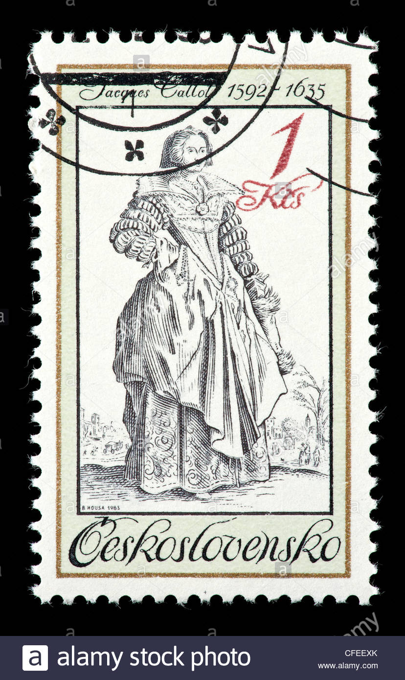 828x1390 Postage Stamp From Czechoslovakia Depicting A Lady With A Lace