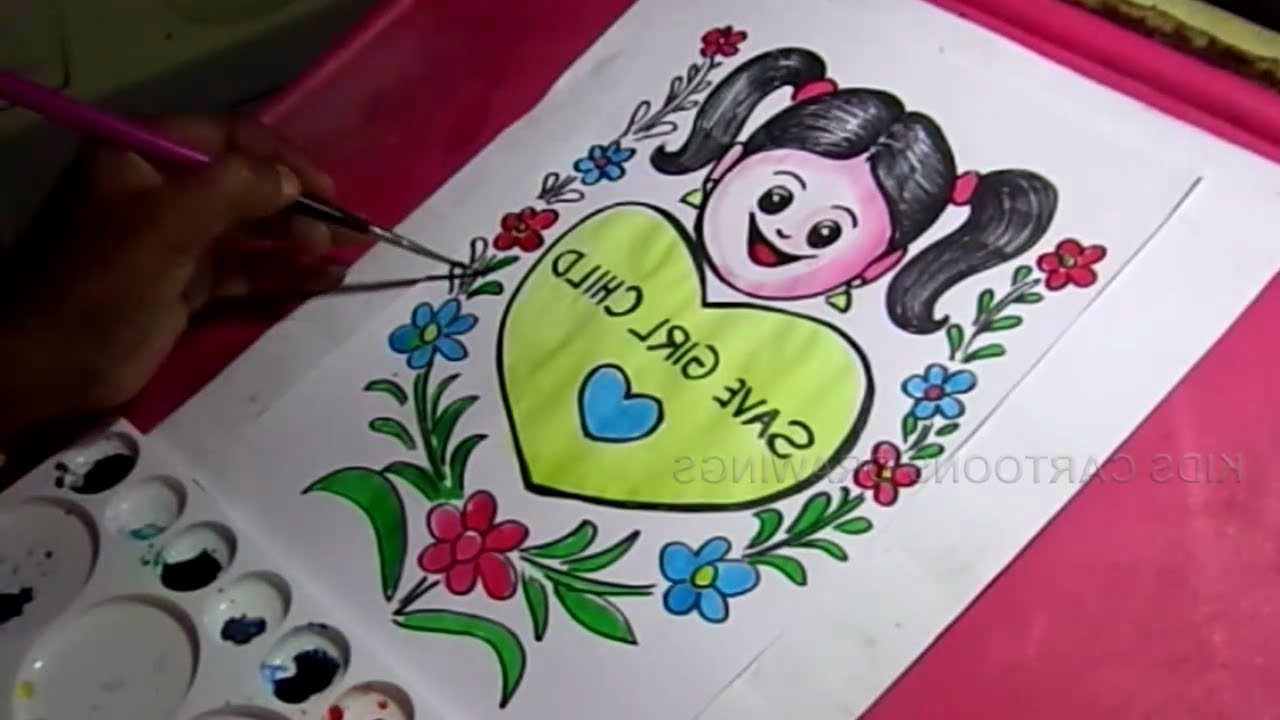 1280x720 save the girl drawing pictures how to draw save girl child poster