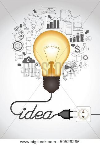 324x470 Concept Of Productive Business Ideas. Lightbulb With Drawing