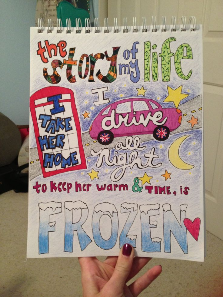 736x981 Cute One Direction Poster Ideas My Lyric Drawing Of Story Of My