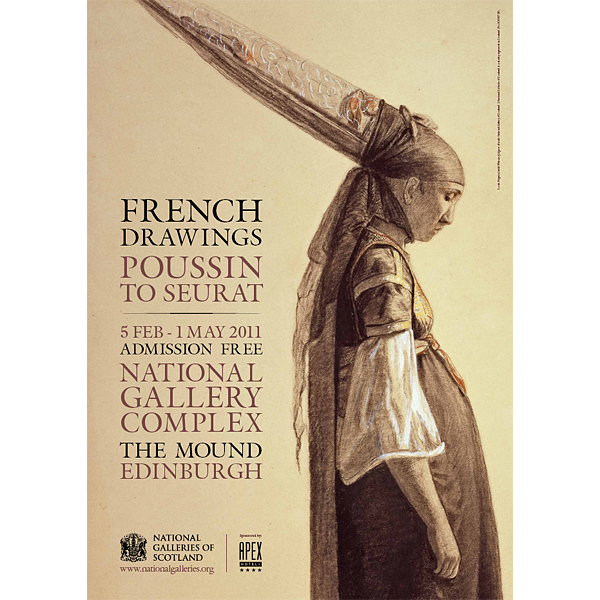 600x600 French Drawing Drawings Exhibition Poster