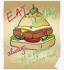 210x230 Healthy Eating Drawing Posters Redbubble
