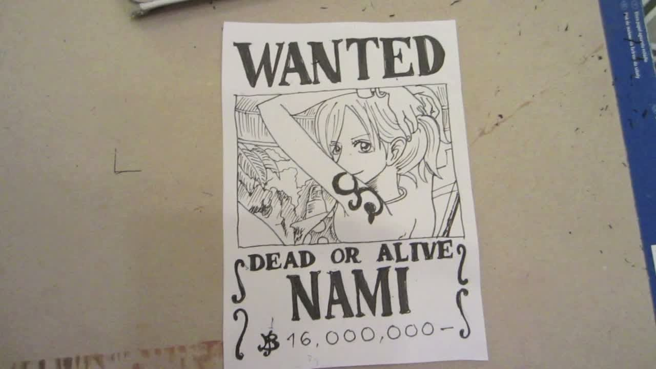 1280x720 How To Draw Wanted Poster Of Nami