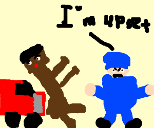 300x250 Guy Hit With Car And Postman Is Triggered (Drawing By Thatnerdgreg)
