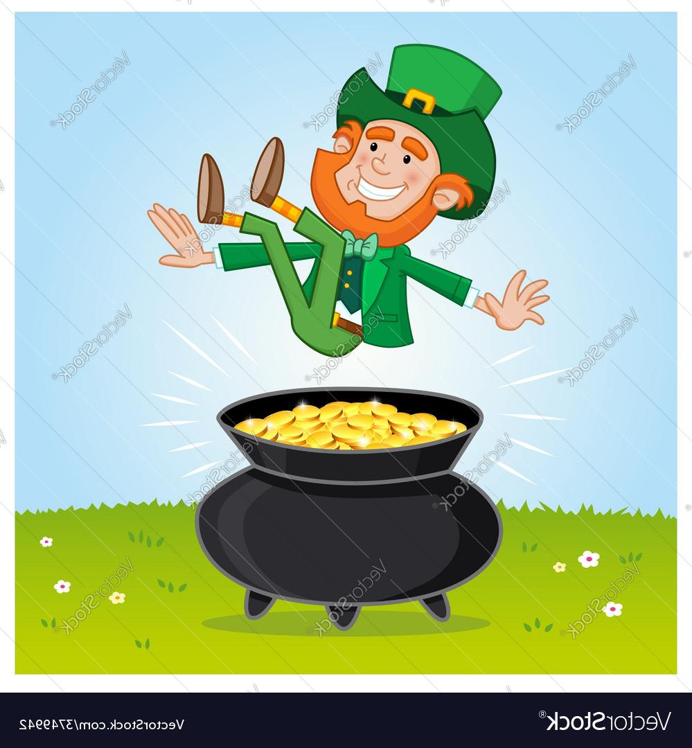 999x1080 Best Free Leprechaun And His Pot Of Gold Vector Drawing