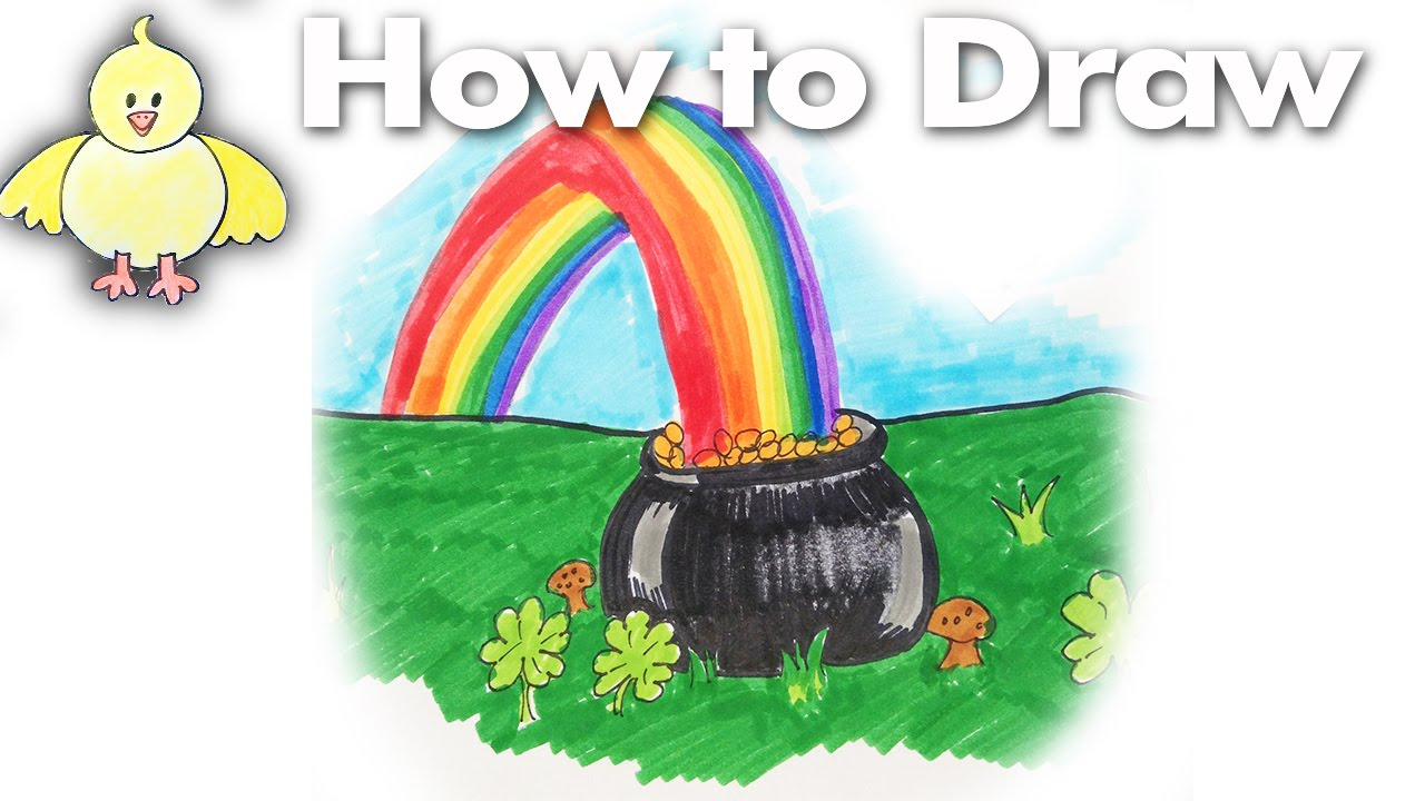Pot Of Gold Drawing at GetDrawings.com | Free for personal use Pot ...