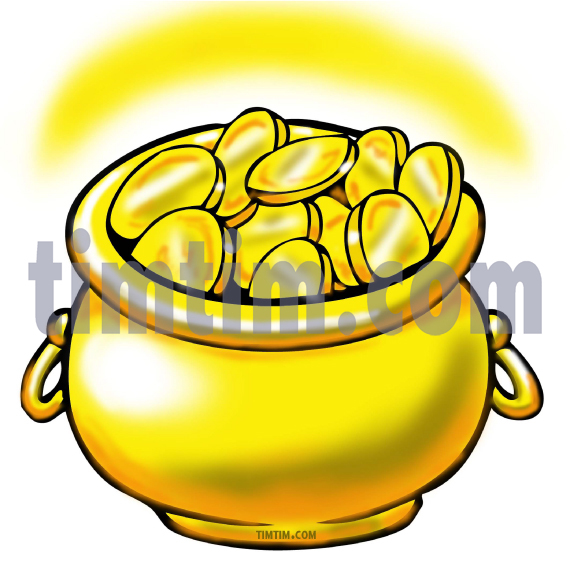 571x571 Free Drawing Of A Pot Of Gold From The Category Computers Amp Money
