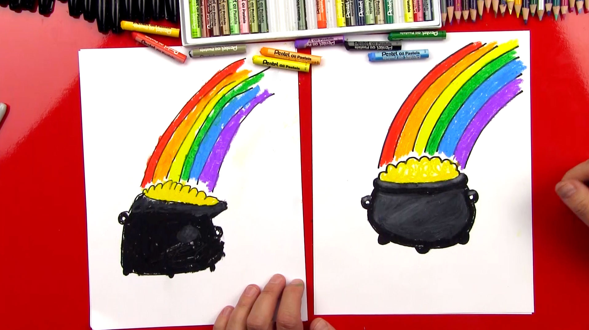 1913x1074 How To Draw A Pot Of Gold