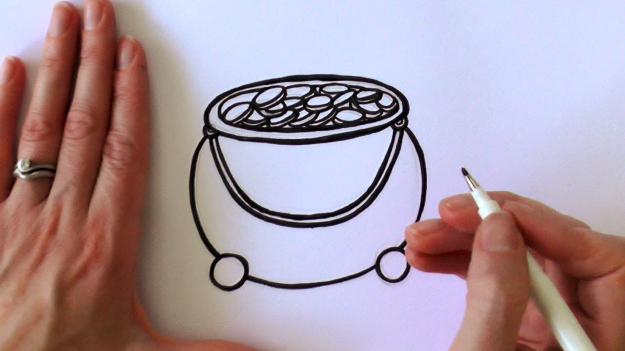 1280x720 How To Draw A Cartoon Pot Of Gold