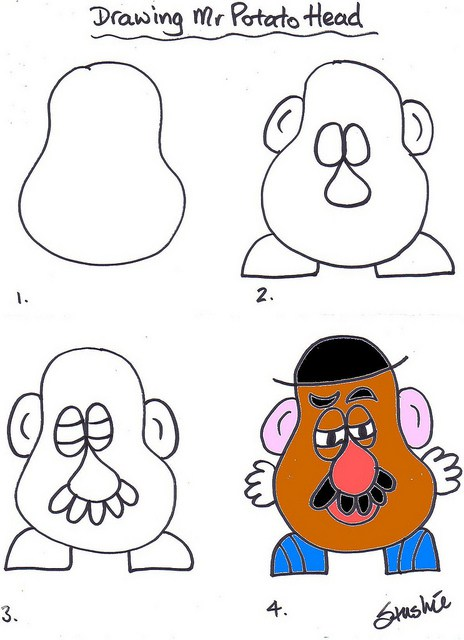 464x640 Lesson 01 Drawing Mr Potato Head Mr Potato Head, Potato Heads