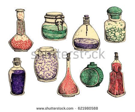 450x375 Drawn Bottle Potion Vial