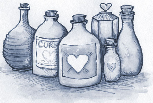 500x336 Love Potion Drawing By Michelle Christina Cookbook