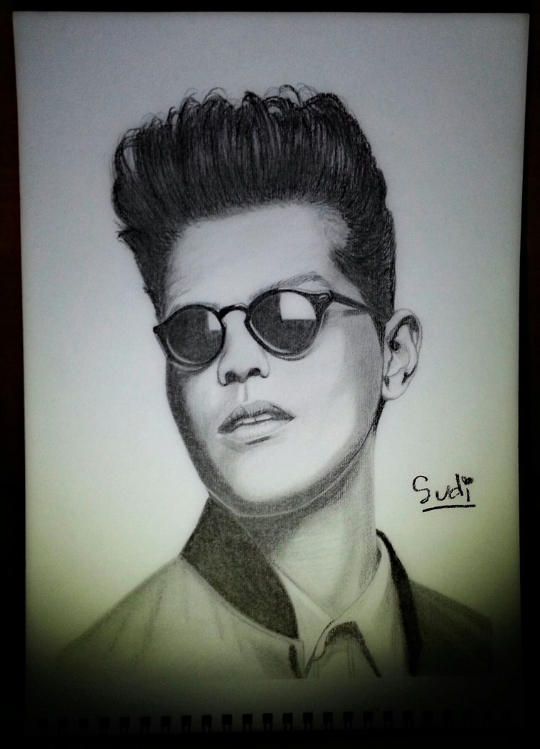 759x1053 Bruno Mars Potrait Drawing By Sudilin
