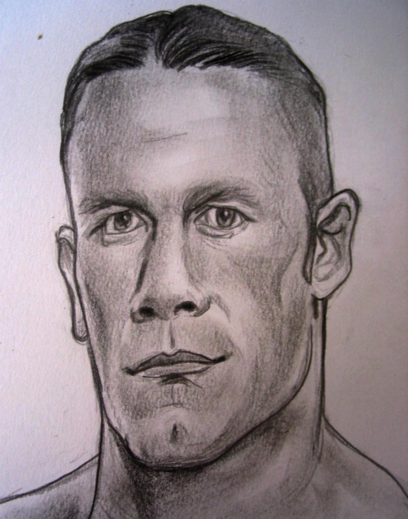 805x1024 Potrait Making Drawing Of John Cena
