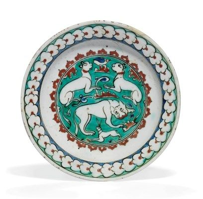 408x400 An Iznik Pottery Dish Iznik Ceramics Pottery