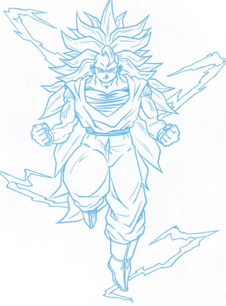 768x1040 Ss3 Goku Power Up By Guerotheartist