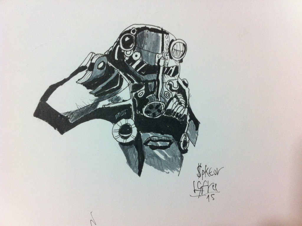 1024x765 Drawing Fallout Power Armor By Djleongfree