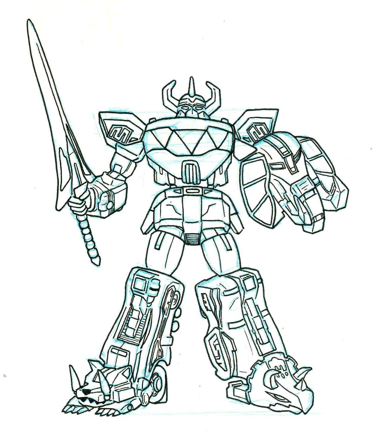 1280x1491 City Grump (This Last One A Day Is The Megazord From Mighty )