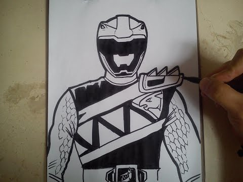 480x360 Como Dibujar Power Ranger Dino Charge