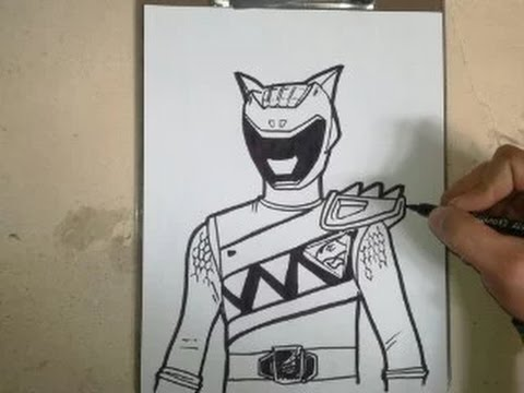 480x360 How To Draw Power Ranger Dino Charge Aqua How To Draw Power
