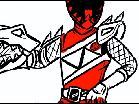 480x360 I Draw Dino Charge Red Ranger (Power Rangers Dino Charge)