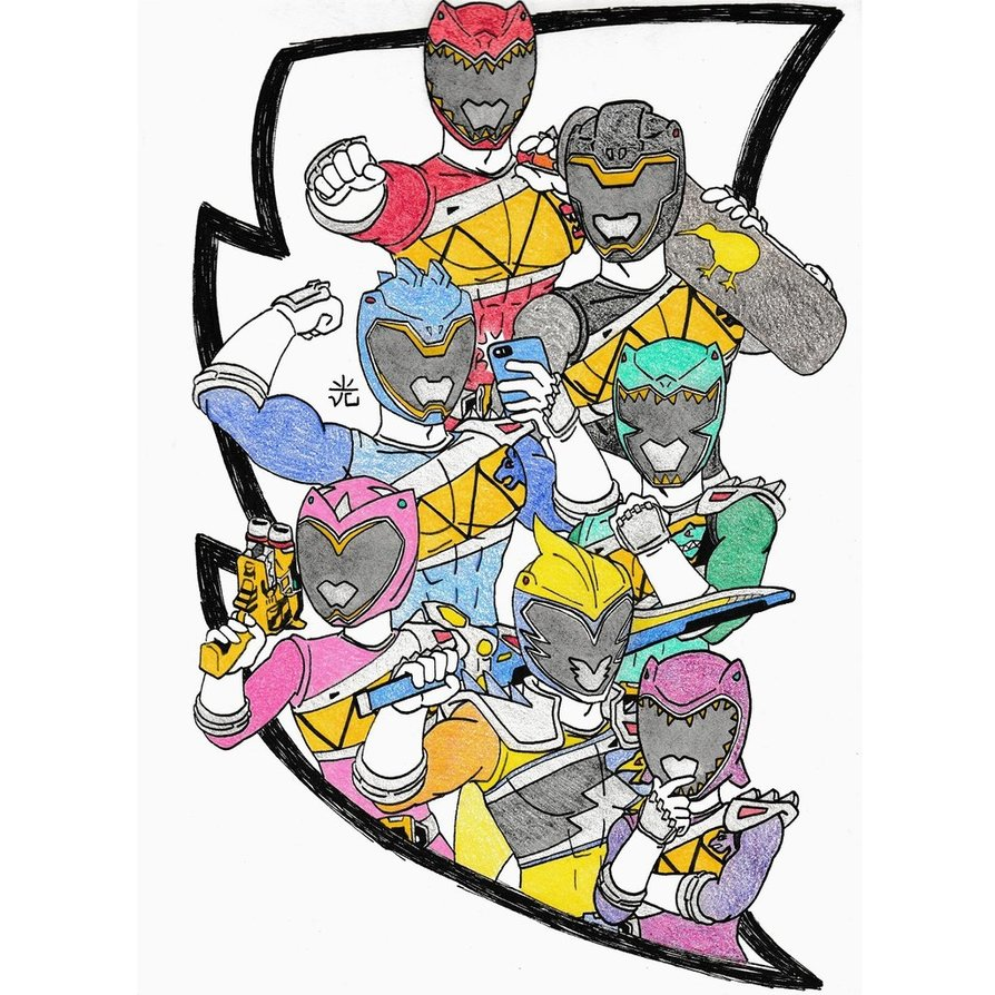 894x894 Power Rangers Dino Charge Drawing Sacanime By Vcheng2k5