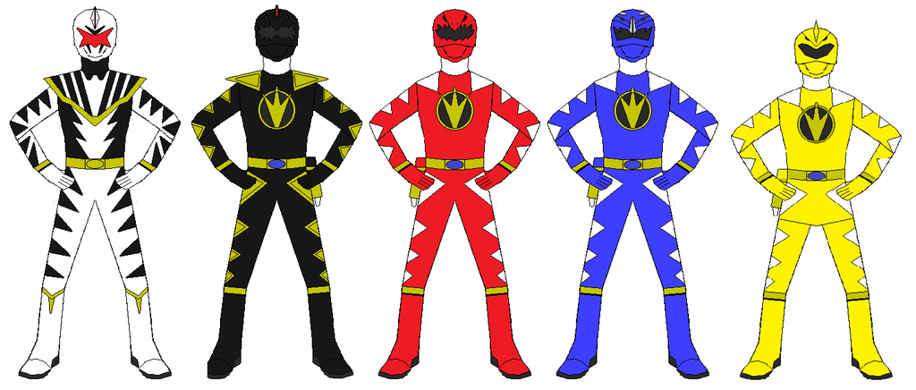 1024x436 Power Rangers Dino Thunder Team By Rangerforce510