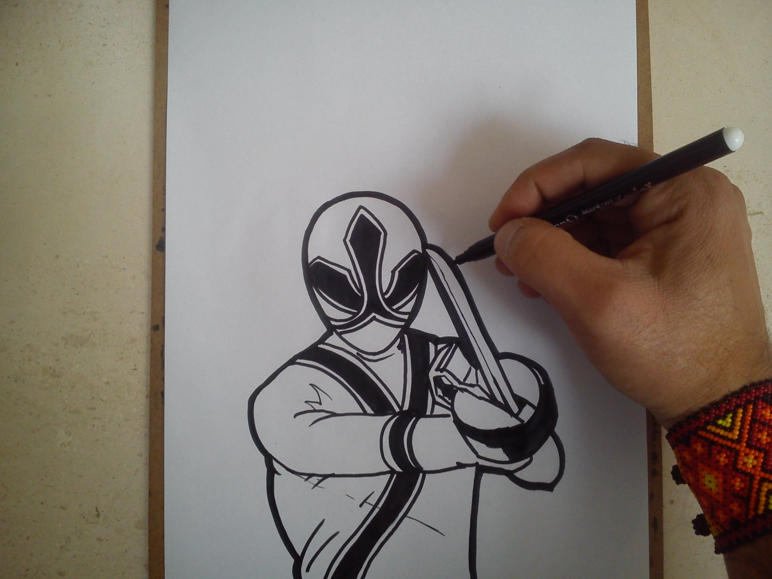 how to draw power rangers megaforce