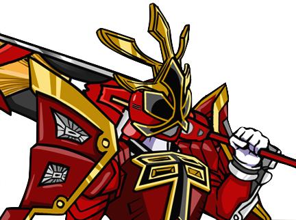 432x322 Fire Shogun Ranger Art By Linearranger Go!! Go!!