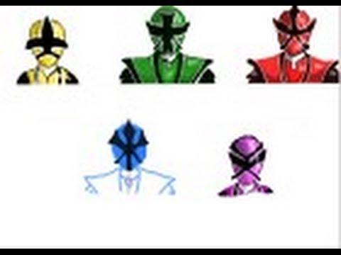 480x360 How To Draw The Power Rangers Samurai