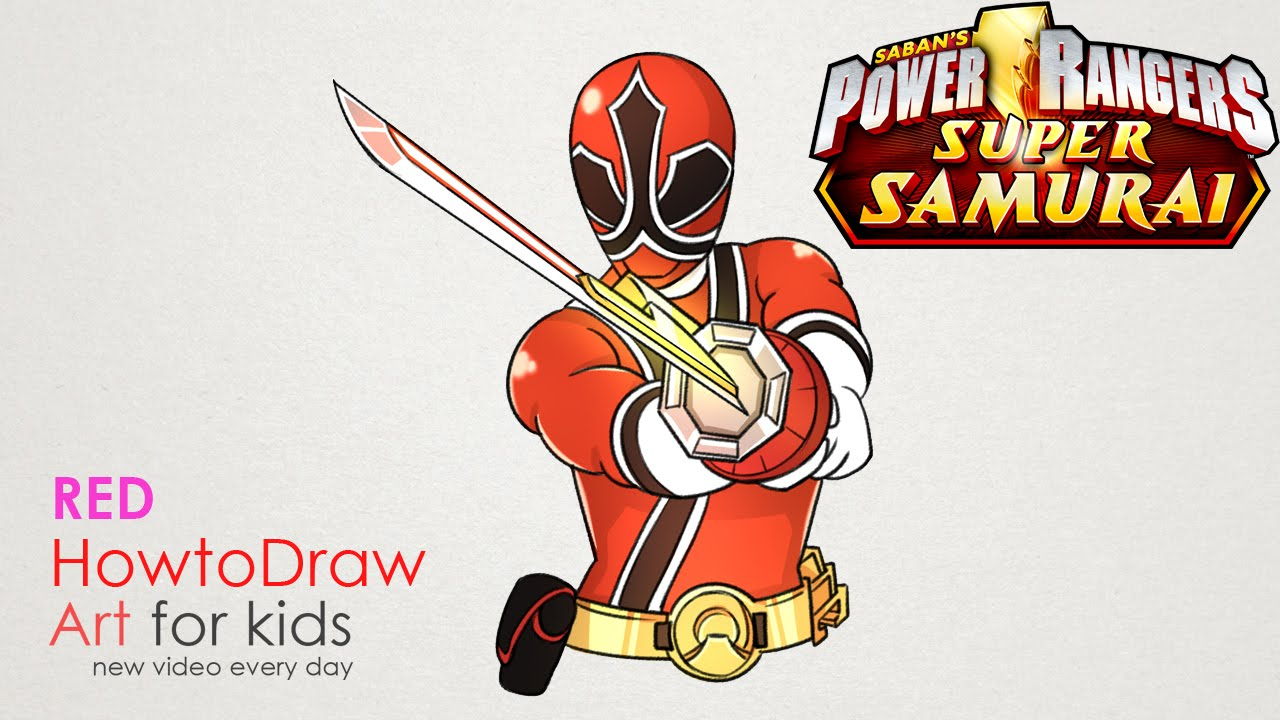 1280x720 Power Rangers Drawing Step By Step How To Draw Red Ranger